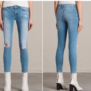 All Saints Mast Ankle Destroy Jean's size 29